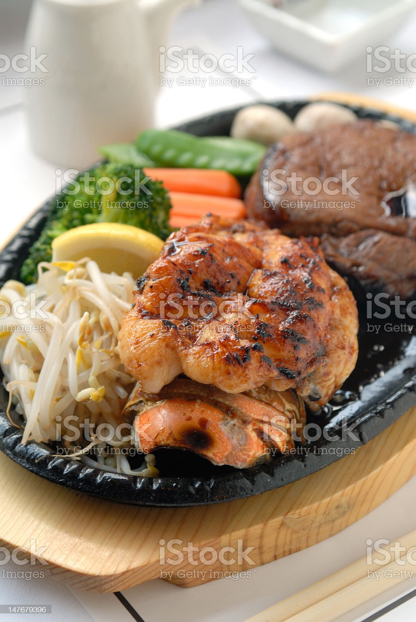 Asian surf and turf royalty-free stock photo