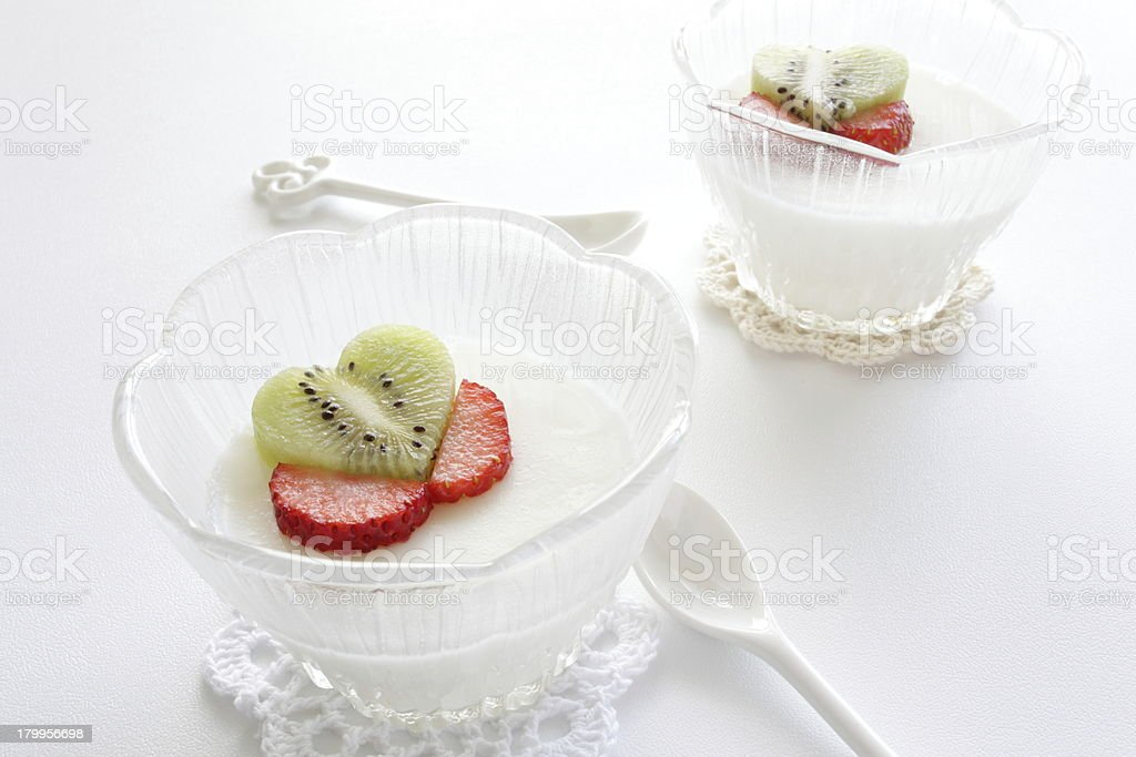 asian sweet food, almond pudding royalty-free stock photo
