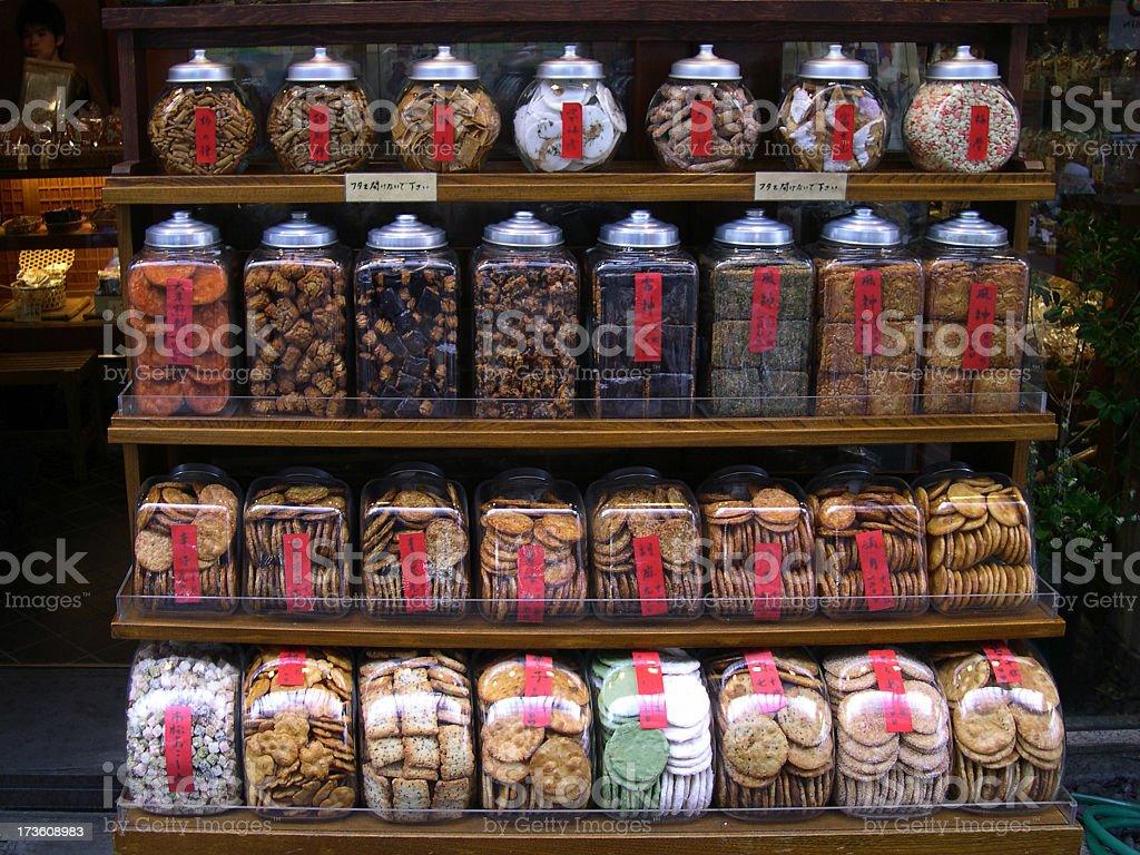 Asian Sweet Shop stock photo