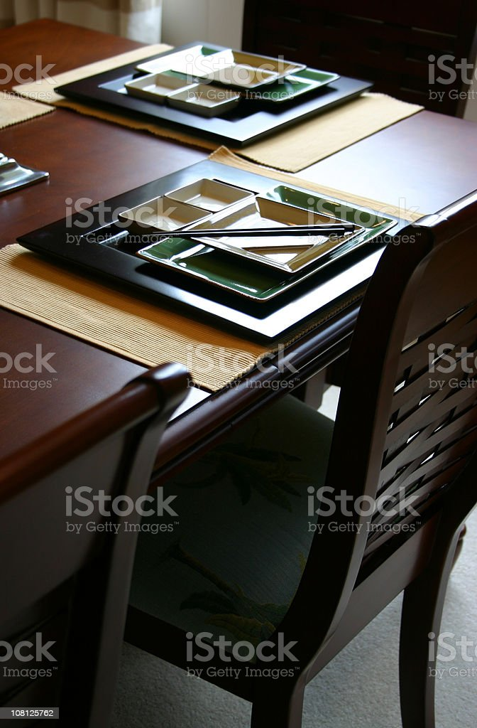 Asian Table Settings royalty-free stock photo