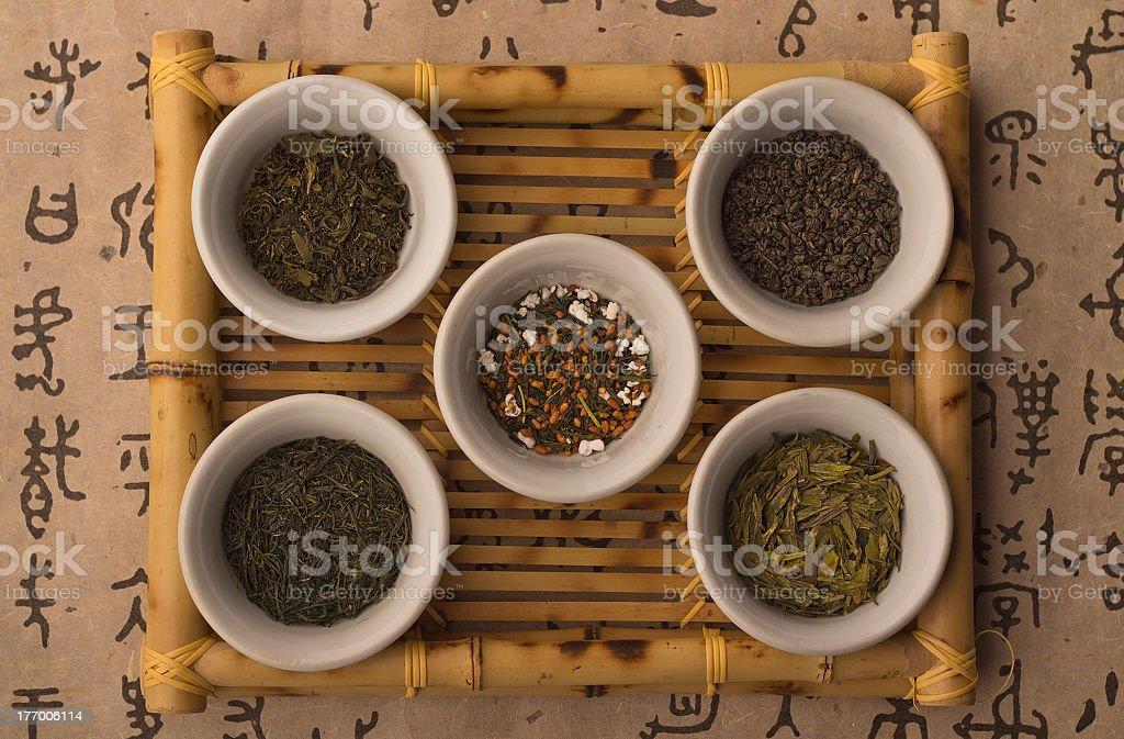 Asian Tea Leaves stock photo