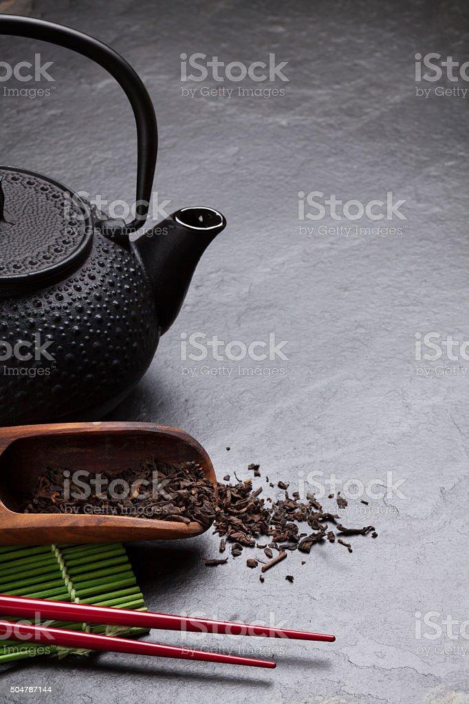 Asian tea stock photo