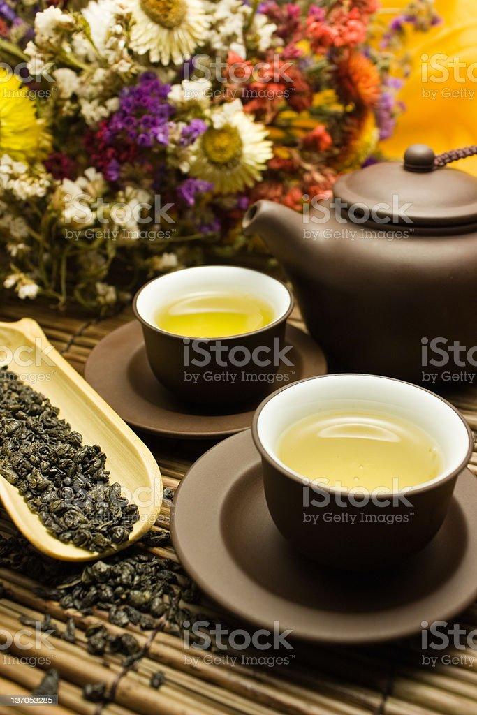 Asian tea set. royalty-free stock photo