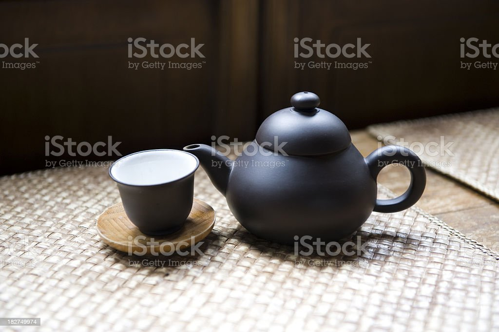 Asian Teapot & Cup royalty-free stock photo