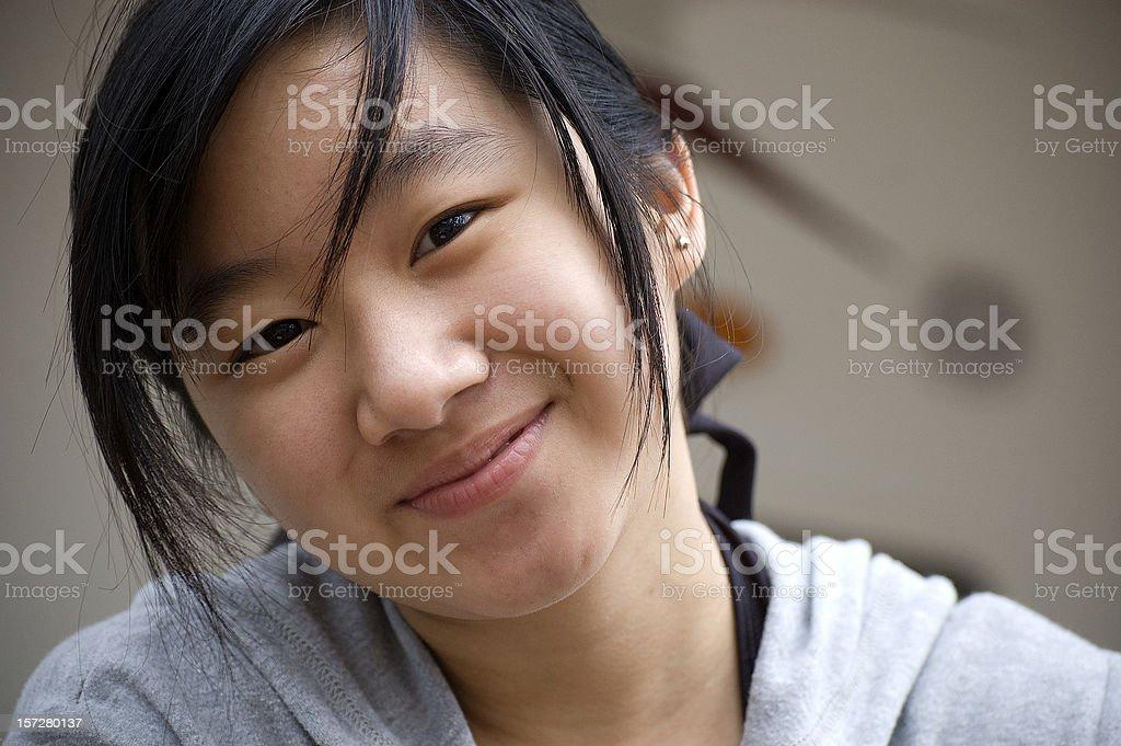 Asian Teen Girl royalty-free stock photo