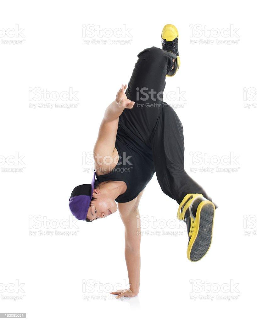 Asian teenager dance hip hop stock photo