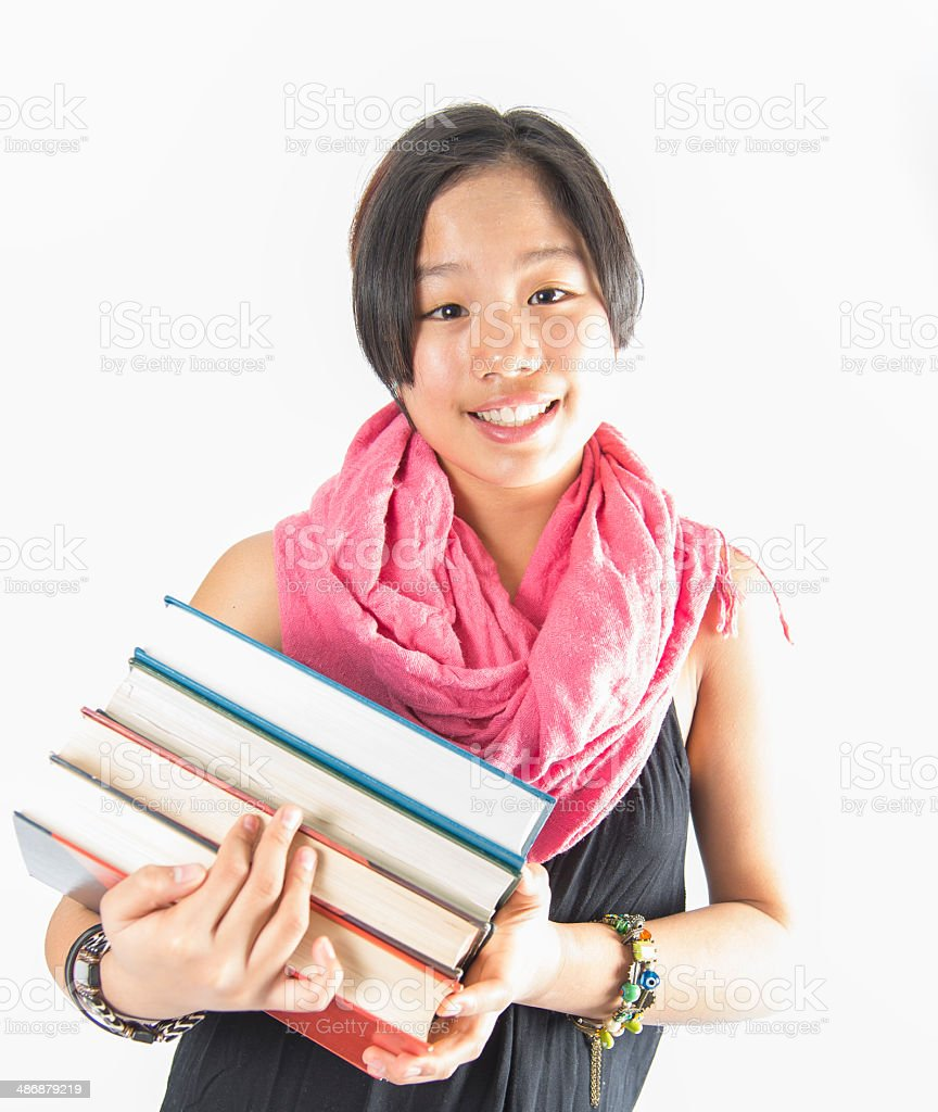 Asian teenager royalty-free stock photo