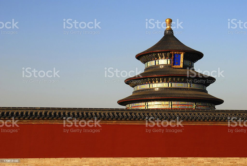 Asian temple of heaven in Asia royalty-free stock photo