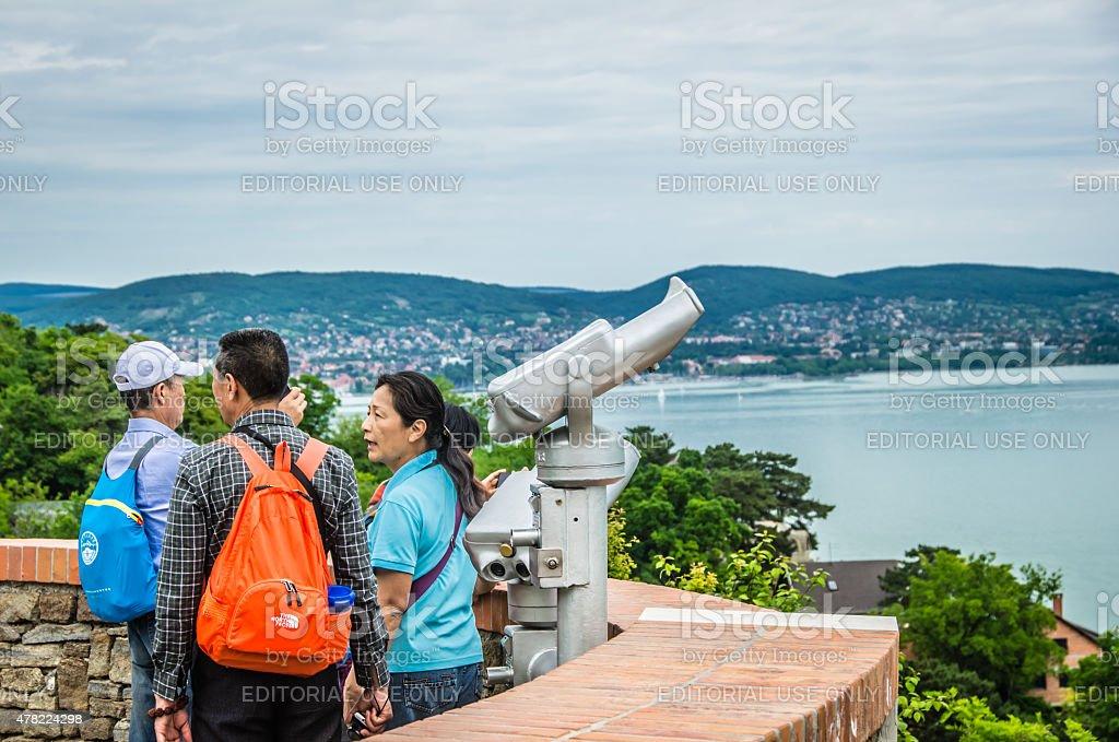 Asian Tourists stock photo