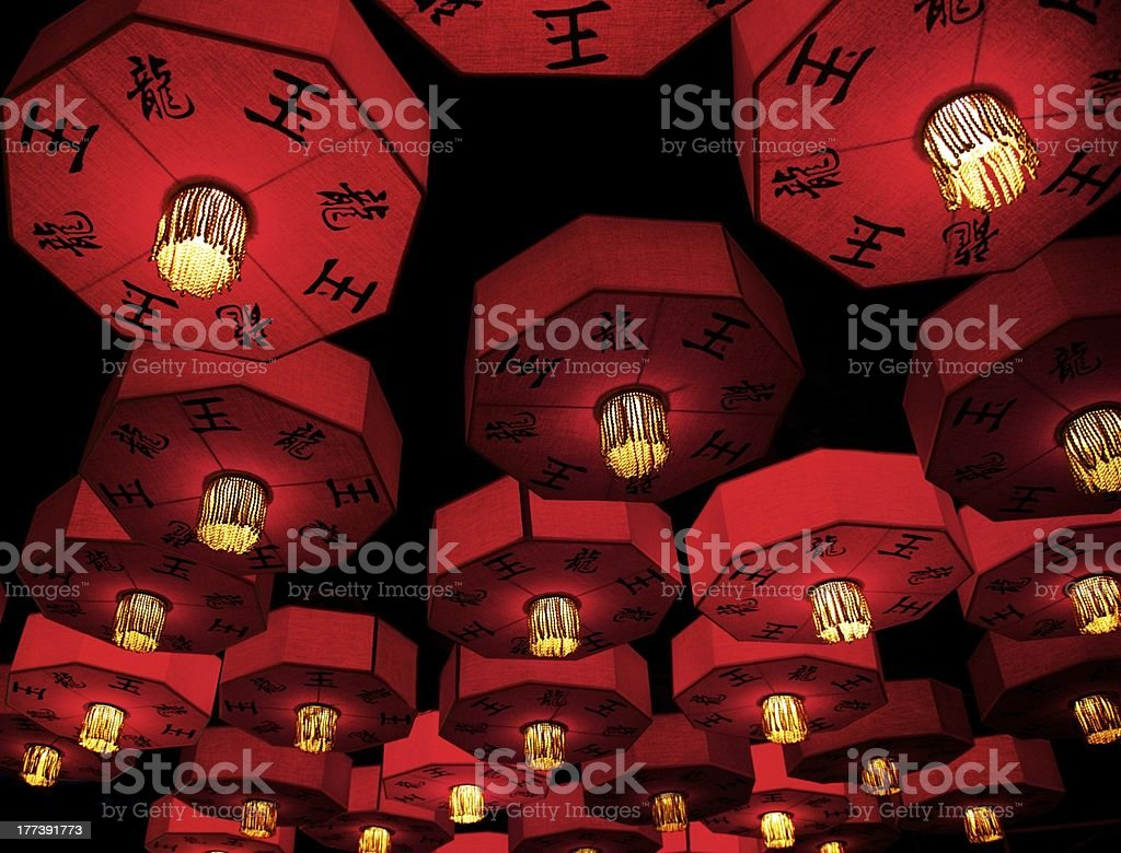 Asian traditional red lanterns. royalty-free stock photo