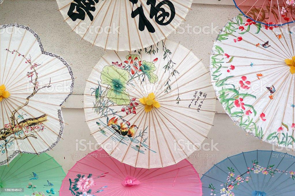 Asian umbrellas royalty-free stock photo