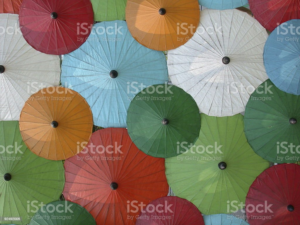 Asian umbrella´s stock photo