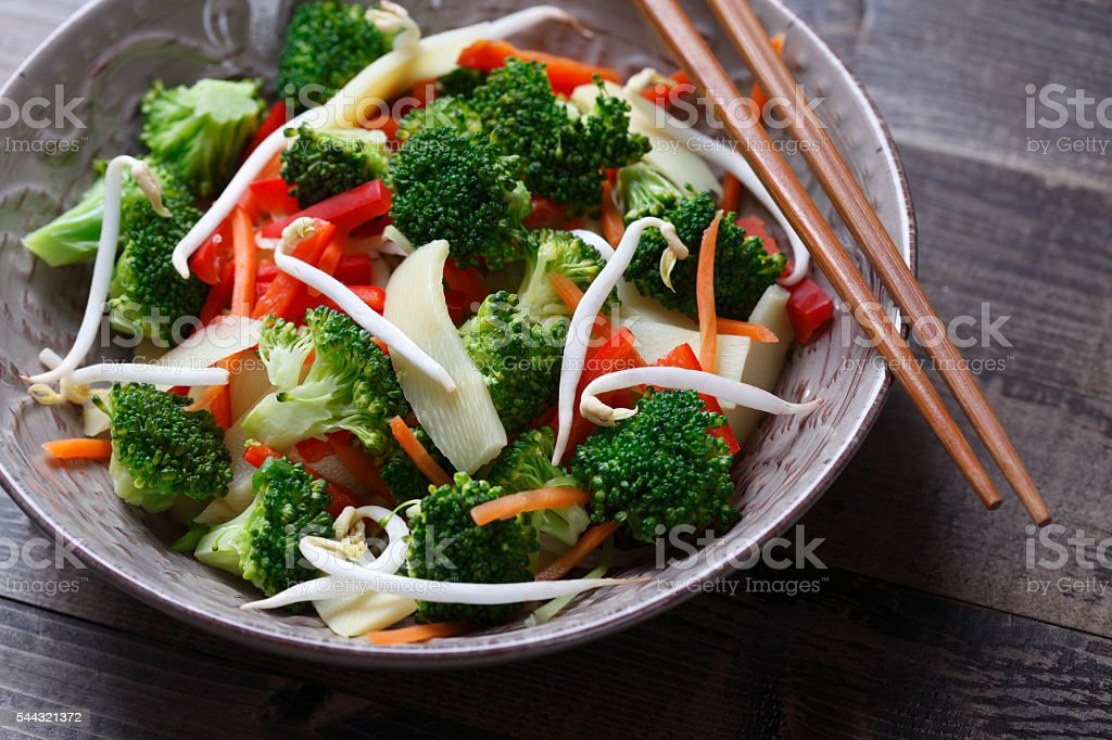Asian Vegetable Dish stock photo