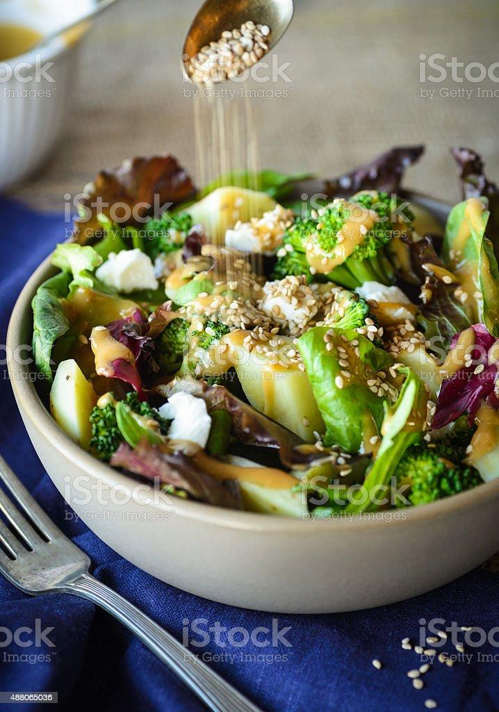 Asian Vegetable Salad stock photo