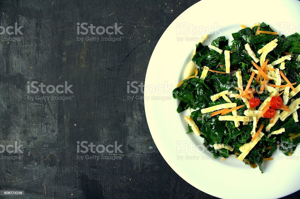 Asian Vegetables with egg stock photo