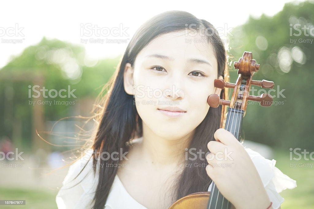 Asian Violinist stock photo
