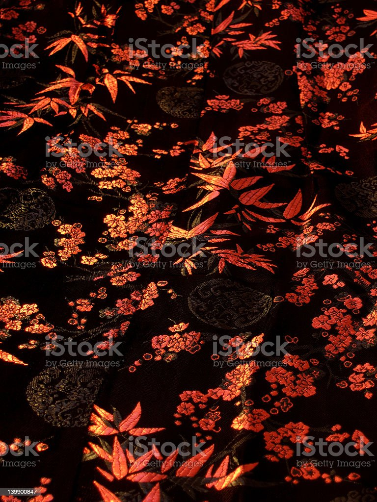 asian warm silk royalty-free stock photo