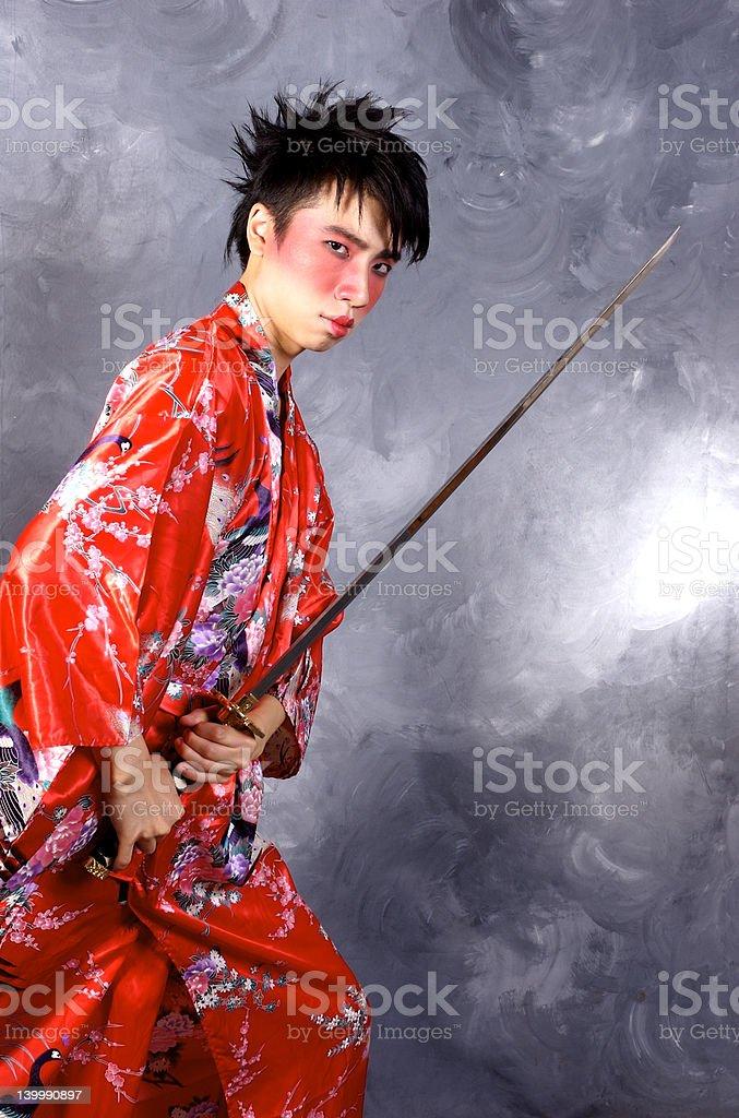 Asian Warrior stock photo