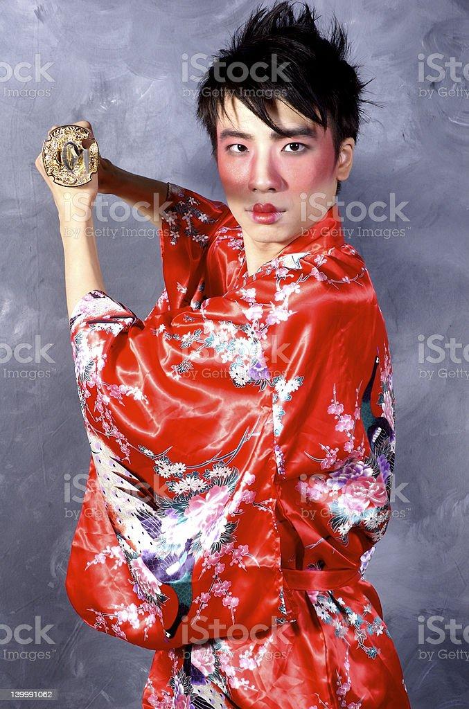 Asian Warrior royalty-free stock photo