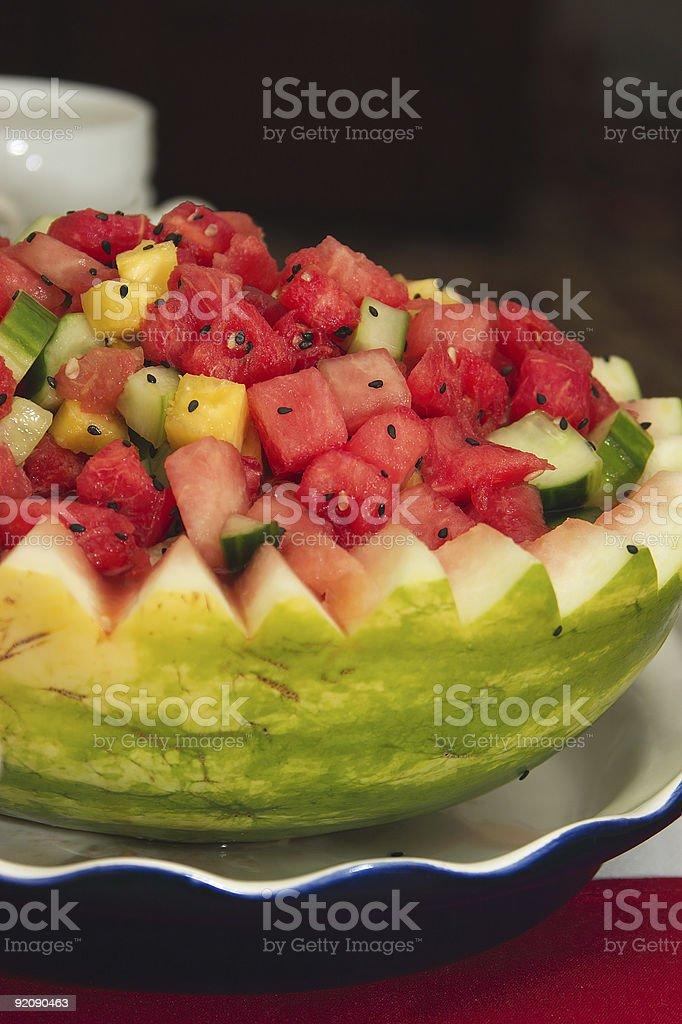 Asian Watermelon salad royalty-free stock photo