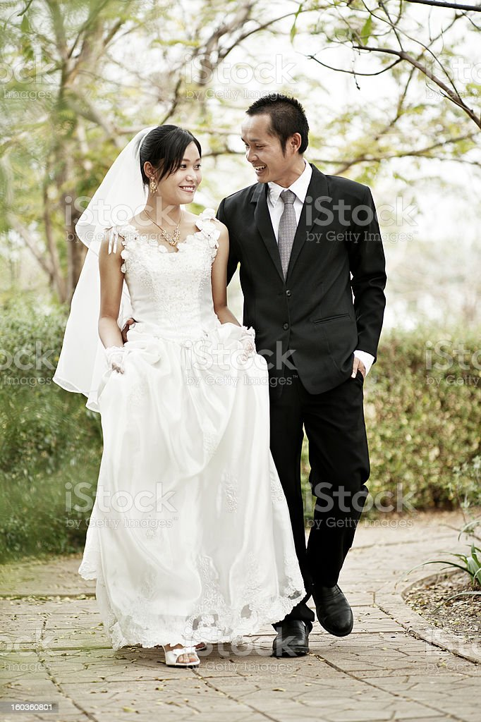 Asian Wedding Couple stock photo