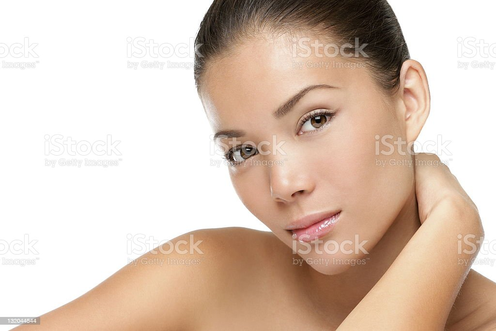 Asian woman beauty face stock photo