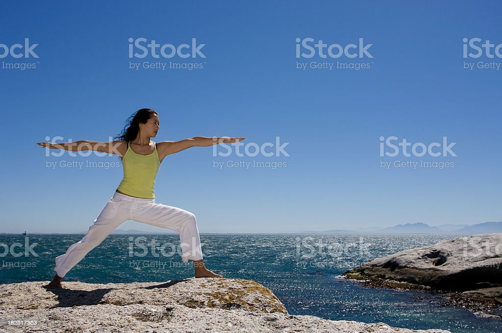 Asian woman doing yoga royalty-free stock photo