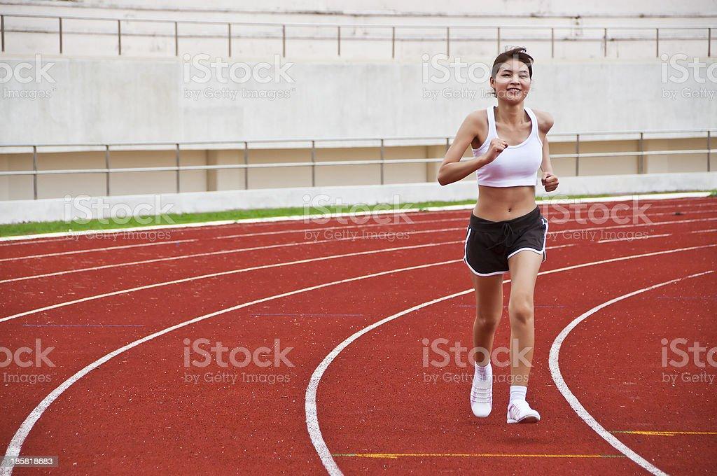 Asian woman exercise. royalty-free stock photo