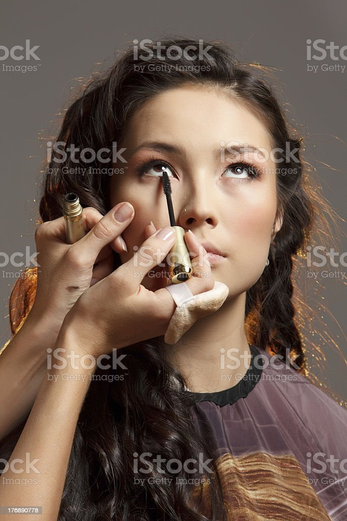 Asian woman in a beauty salon. royalty-free stock photo