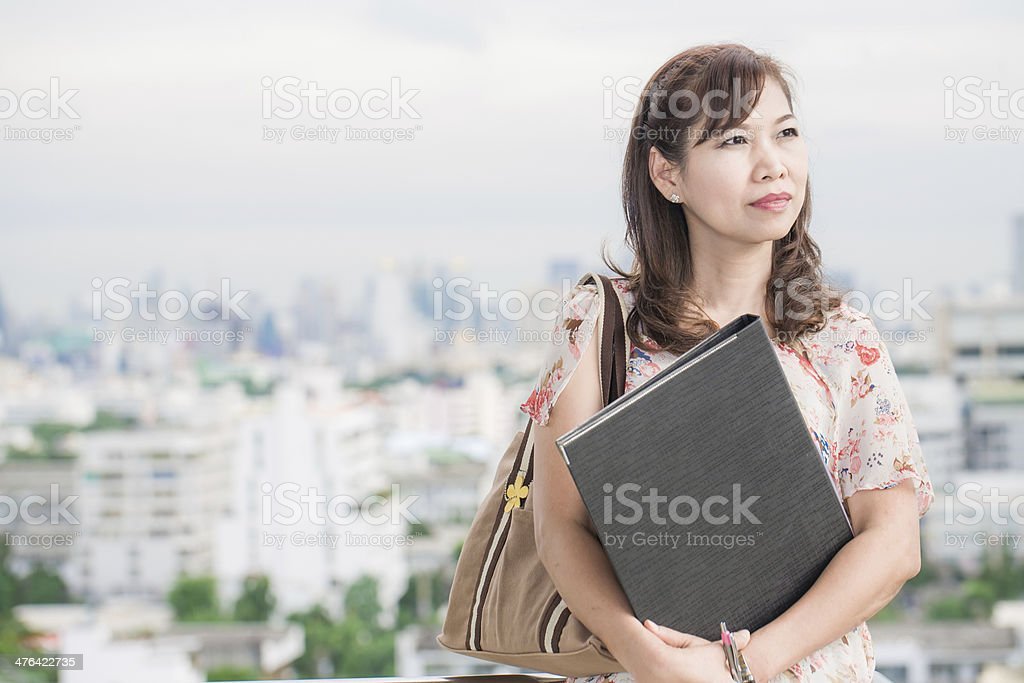 asian woman in office royalty-free stock photo