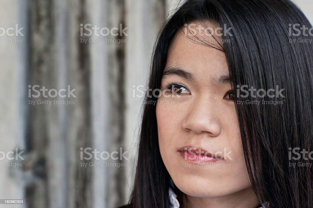 Asian Woman in the City stock photo