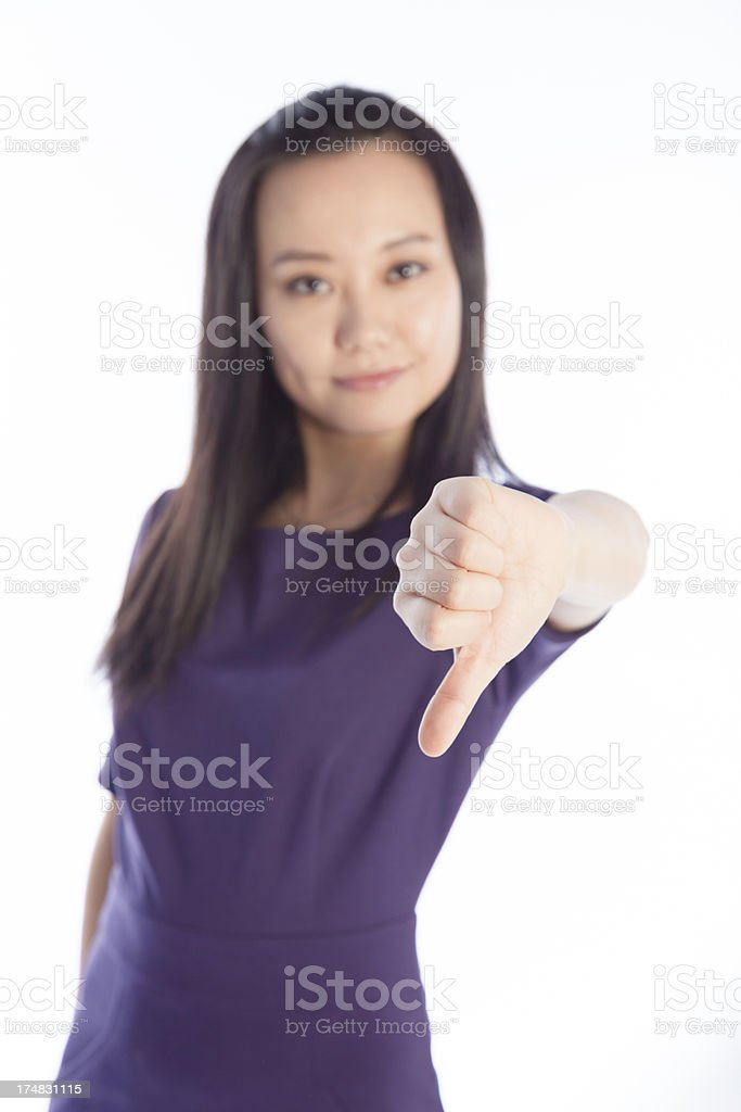 Asian Woman isolated on a white background stock photo