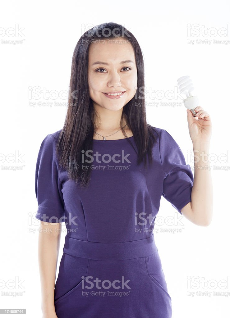 Asian Woman isolated on a white background royalty-free stock photo