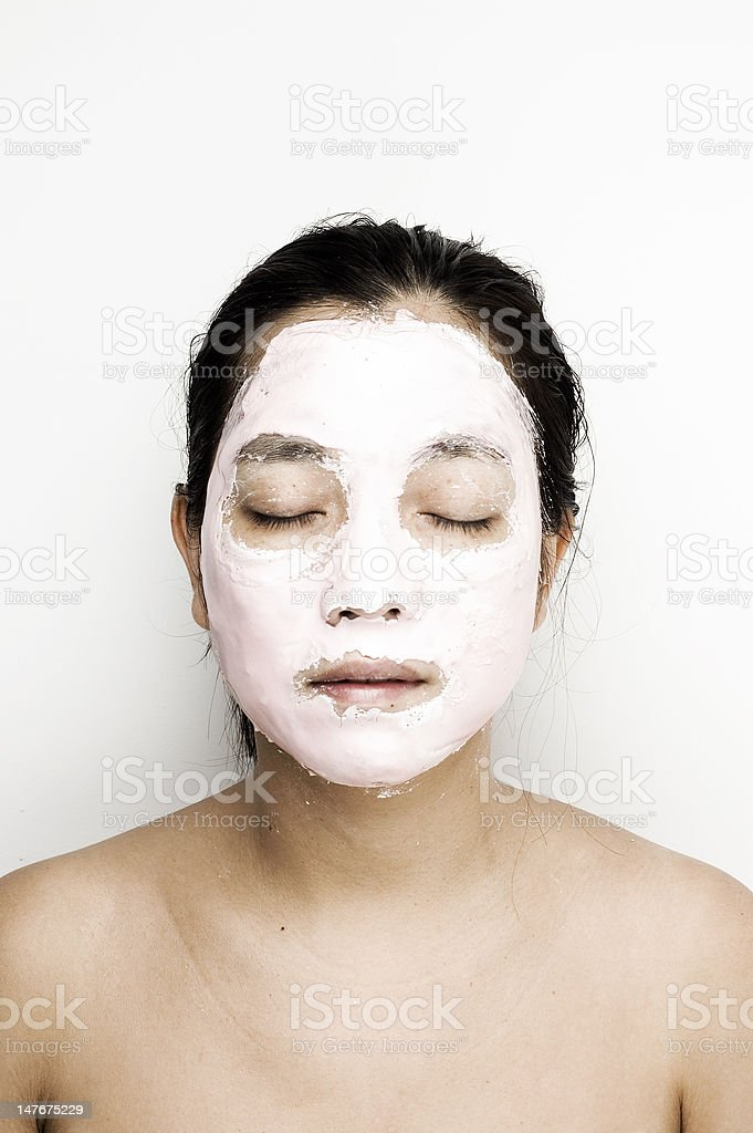 Asian woman mask royalty-free stock photo