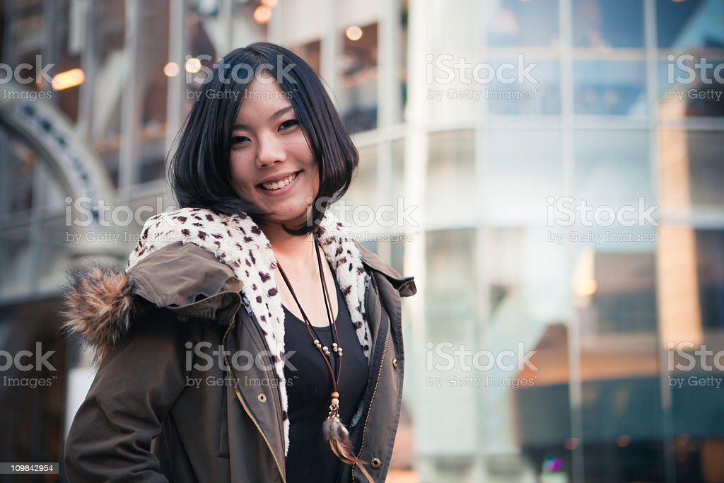 Asian woman portrait stock photo