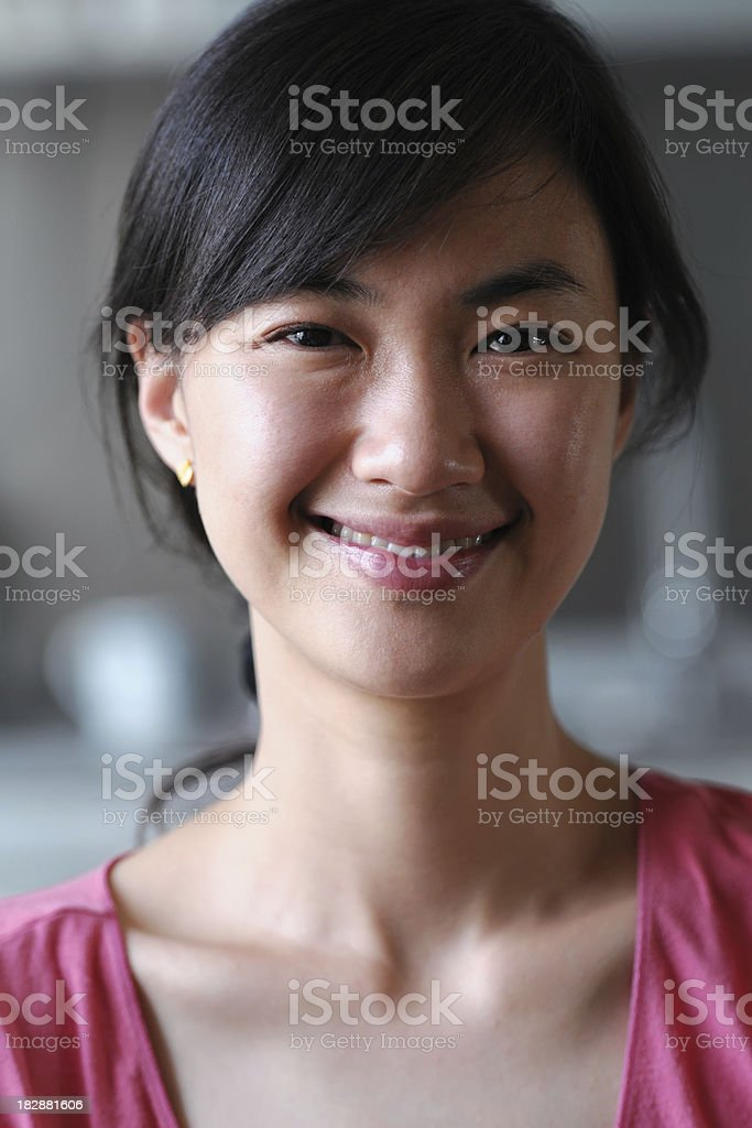 Asian Woman Portrait - XLarge royalty-free stock photo