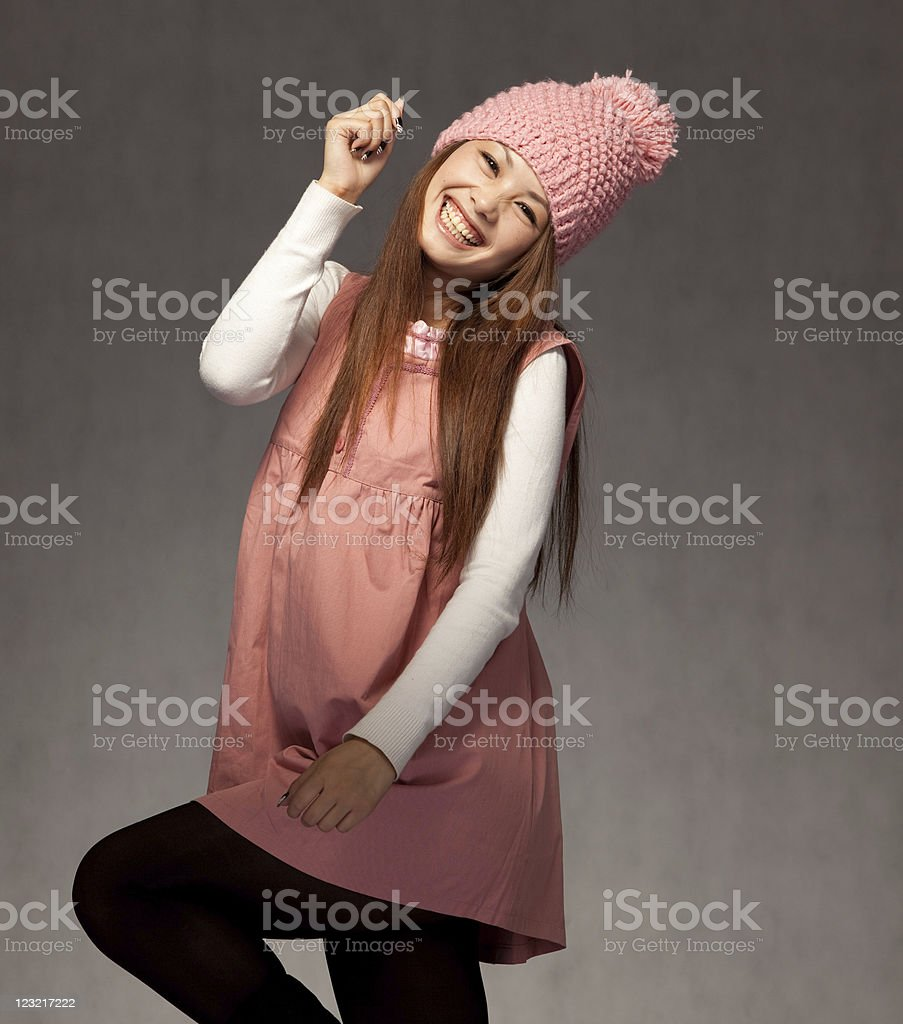 Asian woman posing royalty-free stock photo