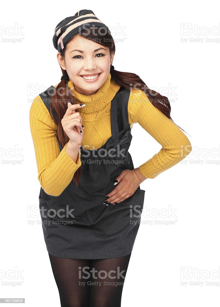 Asian woman posing stock photo