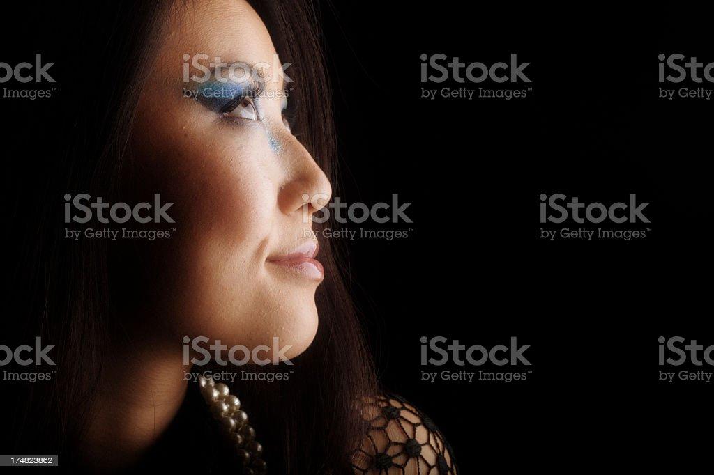 Asian woman profile royalty-free stock photo