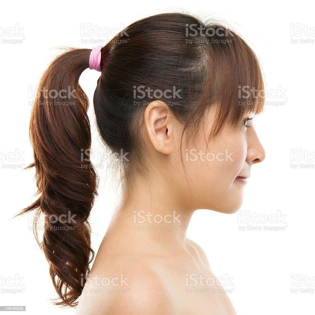 Asian woman profile. stock photo