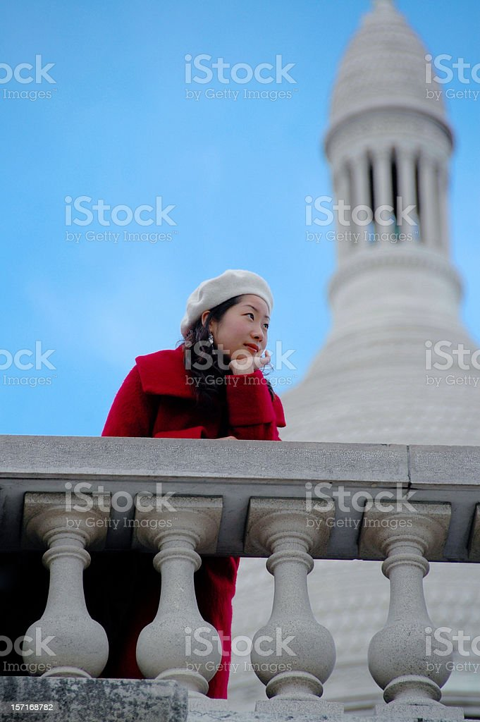 Asian woman relaxing royalty-free stock photo