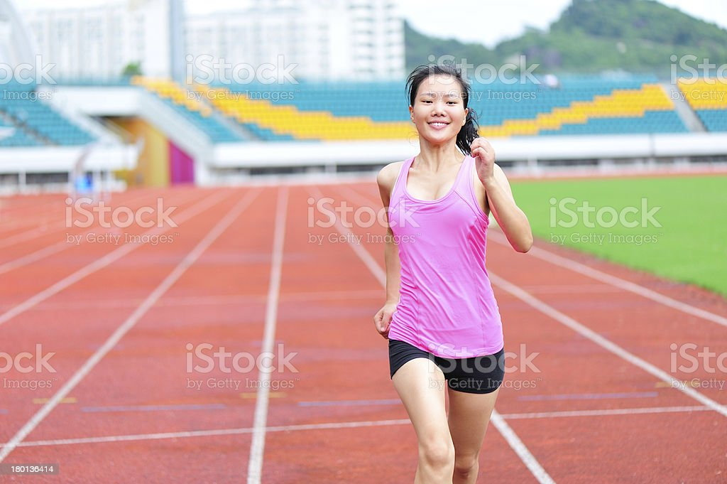 asian woman runner running royalty-free stock photo