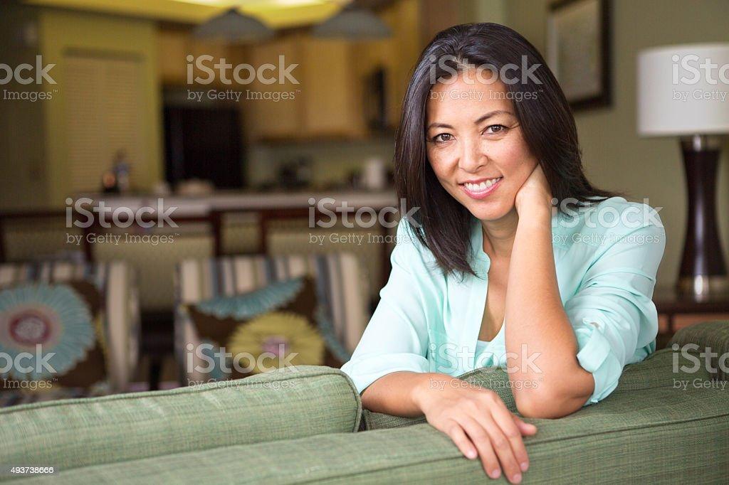 Asian Woman Smiling stock photo