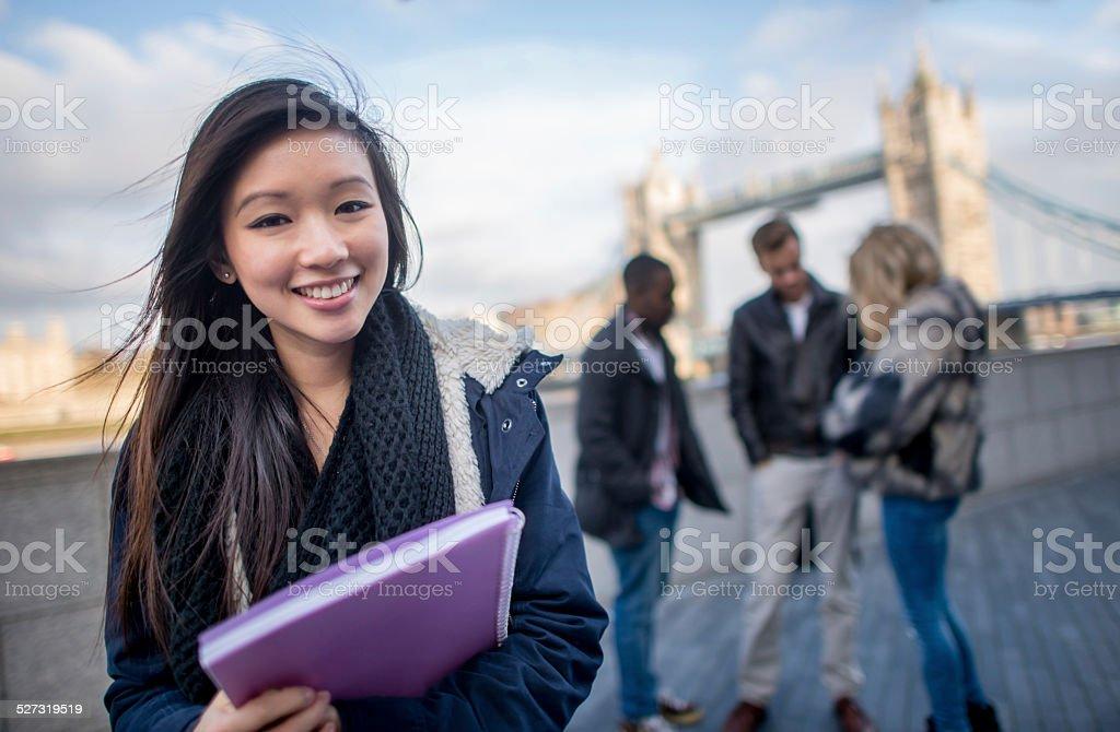 Asian woman studying English stock photo