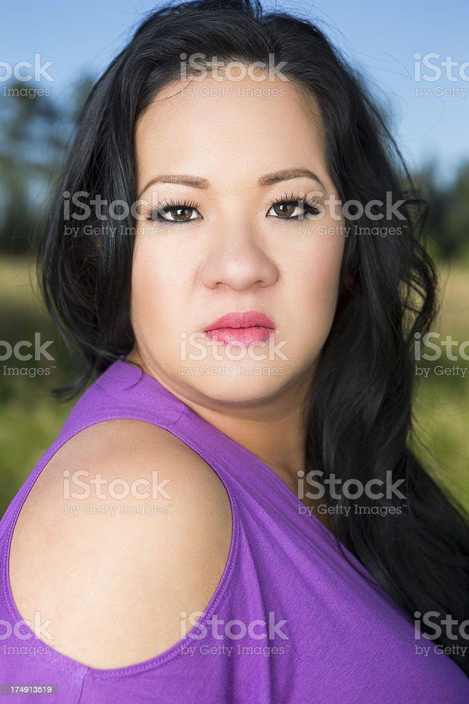 Asian woman summer portrait royalty-free stock photo