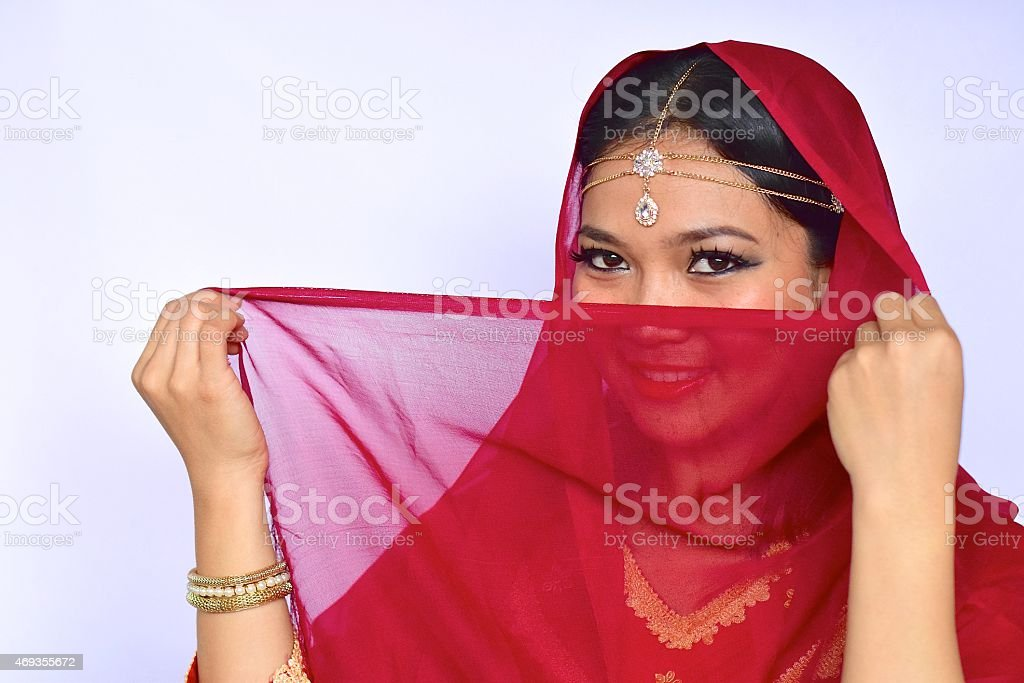 Asian woman with Indian look stock photo