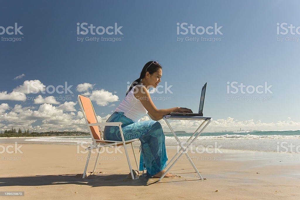 Asian Woman Working royalty-free stock photo