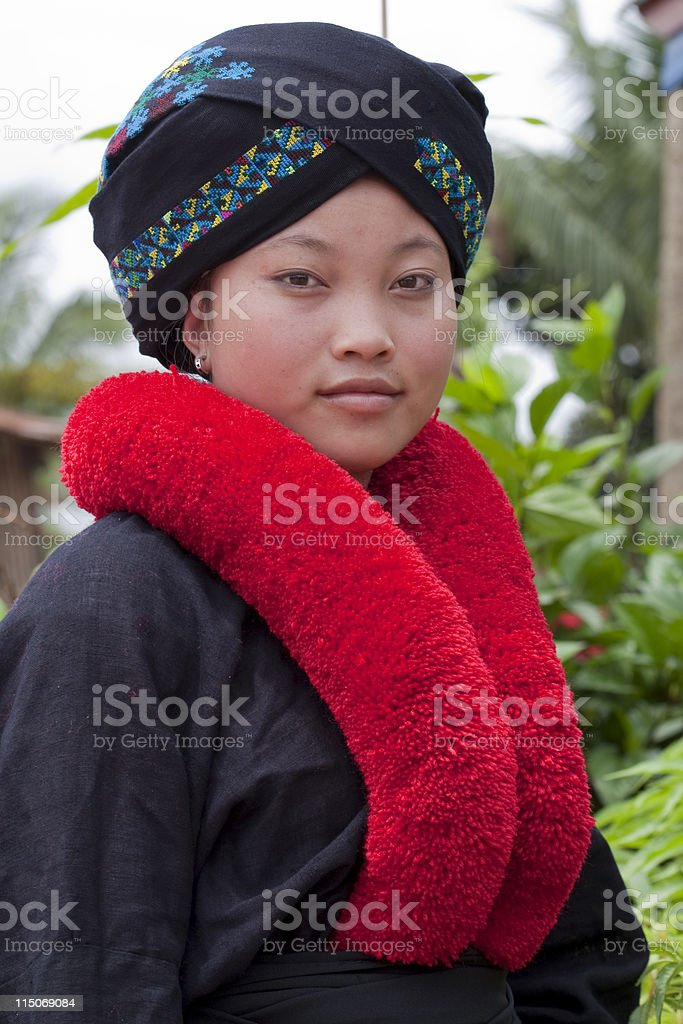 Asian woman, Yao, from Laos royalty-free stock photo