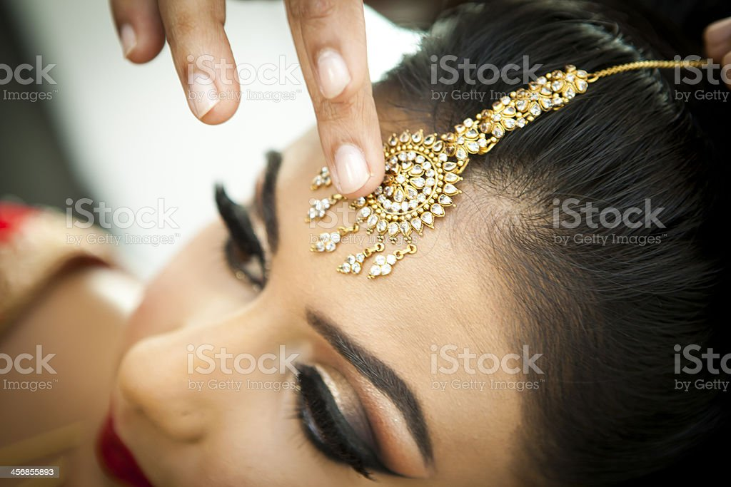 Asian women getting ready for marriage stock photo