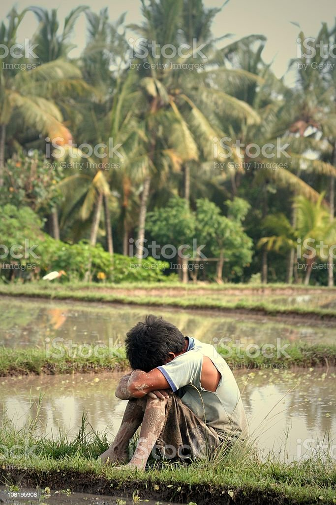 asian worker exhausted hard labour slavery stock photo